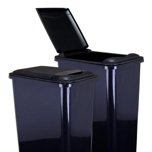 Lid for 35-Quart Plastic Waste Container Black.