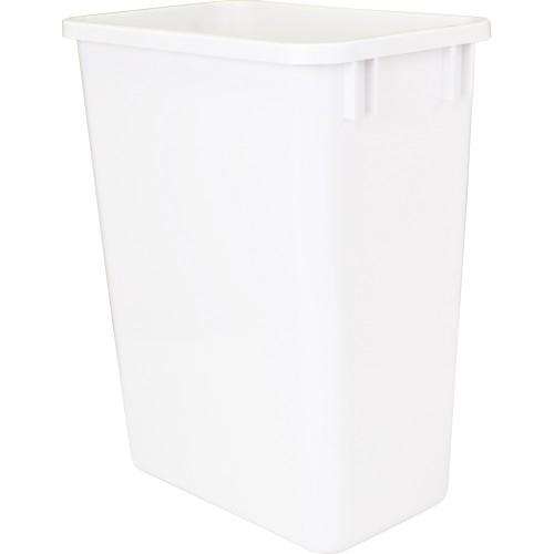 35-Quart Plastic Waste Container White.