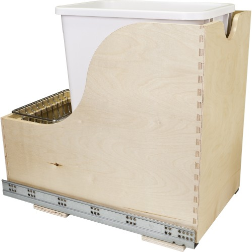 Preassembled 35-Quart Single Pullout Waste Container System