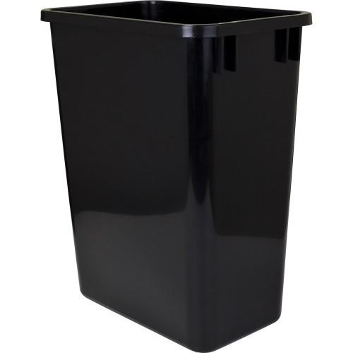 35-Quart Plastic Waste Container Black.