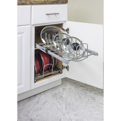 "Pots and Pan Lid Organizer for 15"" Base Cabinet"