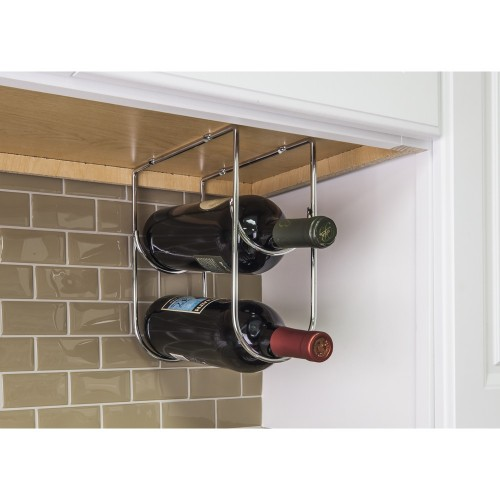 Wine Bottle Holder in Chrome