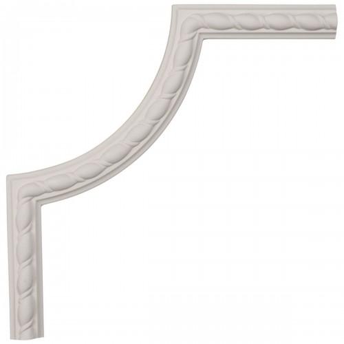 10W x 10H x 5/8P Bulwark Rope Panel Moulding Corner
