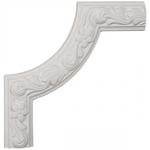 10W x 10H x 7/8P Sussex Floral Panel Moulding Corner