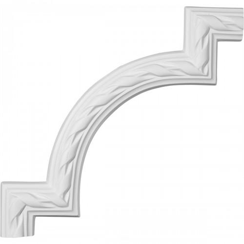 11 3/8W x 11 3/4H Jackson French Ribbon Panel Moulding Corner
