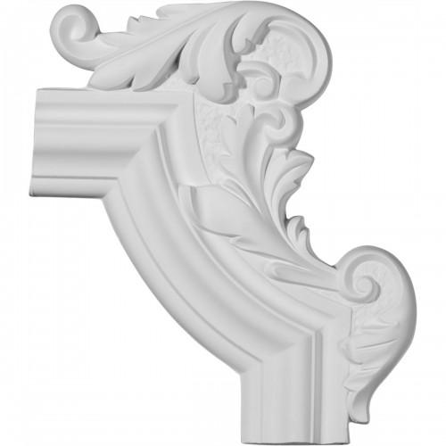 13 1/4W x 10 5/8H x 1 1/8P Pompeii Panel Moulding Corner Right