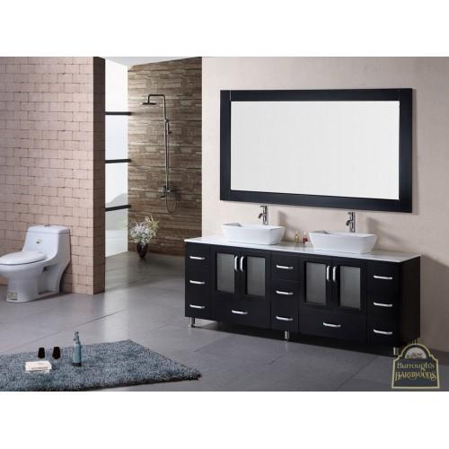 """Stanton 72"""" Double Sink Vanity Set in Espresso"""