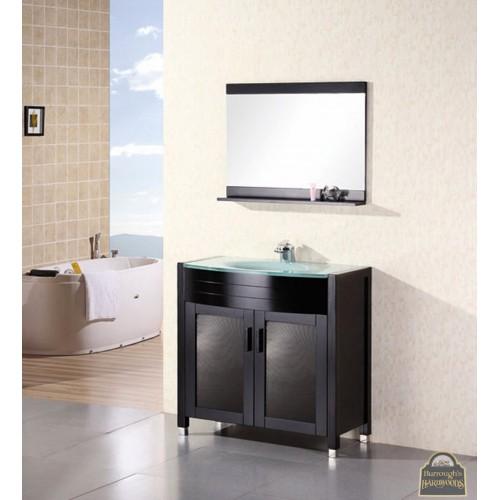 "Waterfall 36"" Single Sink Vanity Set in Espresso"