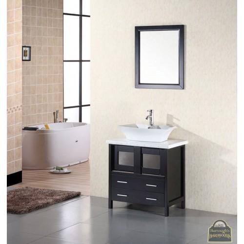 "Elite 30"" Single Sink Vanity Set in Espresso"