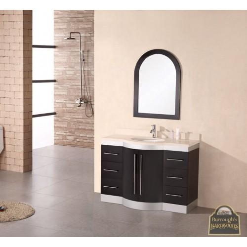 """Jade 48"""" Single Sink Vanity Set w/ Glass Top"""