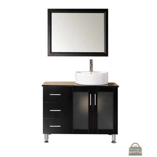 "Malibu 39"" Single Sink Vanity Set in Espresso"