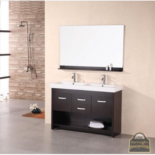 """Citrus 48"""" Double Sink Vanity Set in Espresso"""