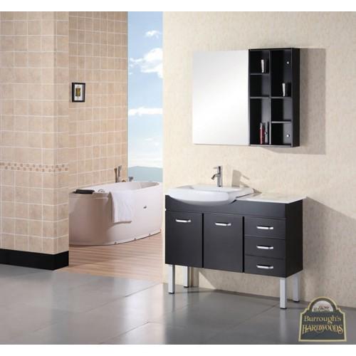 """Belini 46"""" Double Sink Vanity Set in Espresso"""