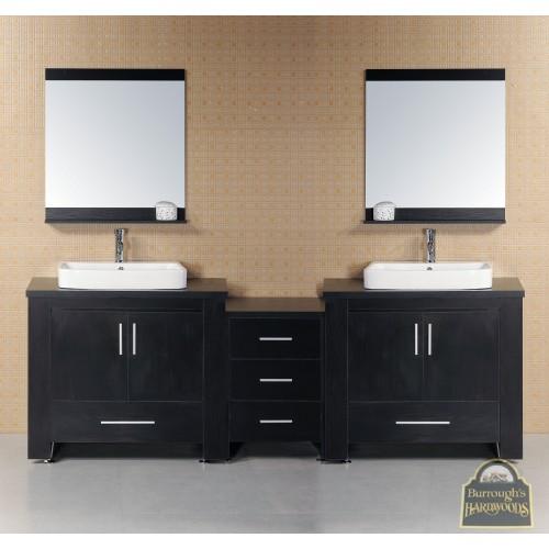 "Washington 92"" Double Sink Vanity Set in Espresso"