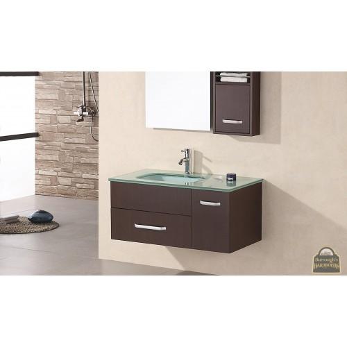 "Christine 35"" Single Sink - Wall Mount Vanity Set in Espresso"