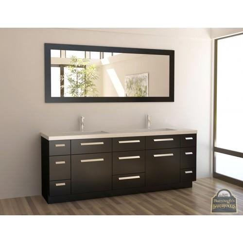 "Moscony 84"" Double Sink Vanity Set in Espresso"
