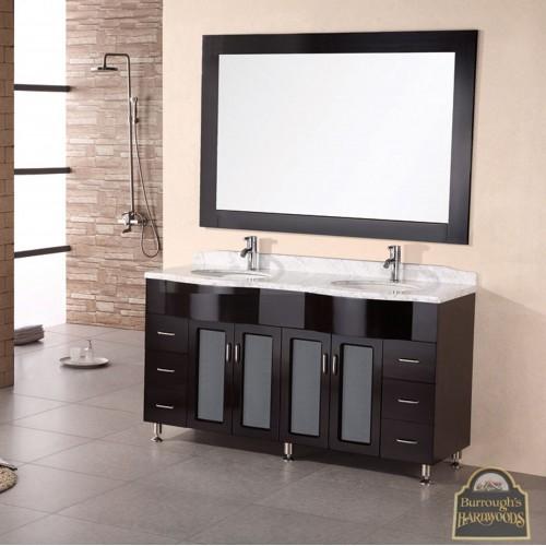 """Bello 61"""" Double Sink Vanity Set in Espresso"""