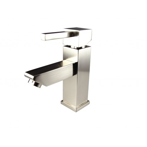 Fresca Versa Single Hole Mount Bathroom Vanity Faucet - Brushed Nickel