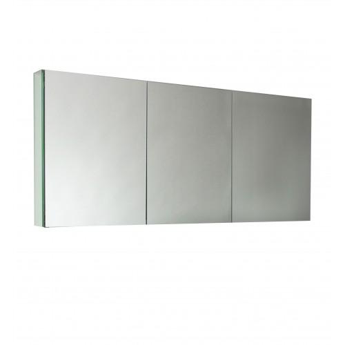 "Fresca 60"" Wide Bathroom Medicine Cabinet w/ Mirrors"