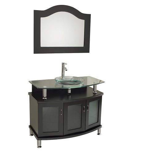 """Fresca Contento 39"""" Espresso Modern Bathroom Vanity w/ Mirror"""