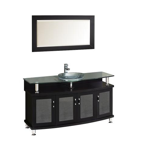 """Fresca Contento 55"""" Espresso Modern Bathroom Vanity w/ Mirror"""