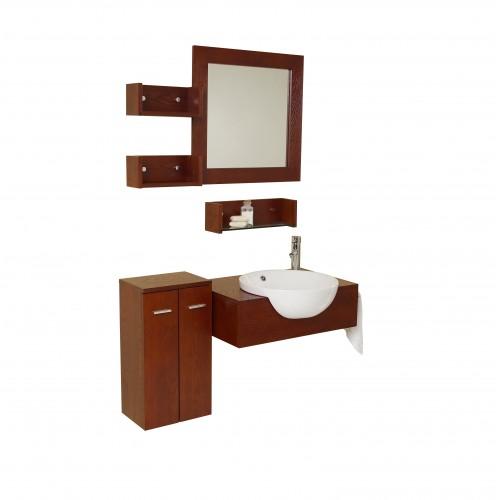 Fresca Stile Modern Bathroom Vanity w/ Mirror & Side Cabinet