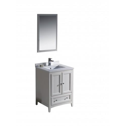 "Fresca Oxford 24"" Antique White Traditional Bathroom Vanity"