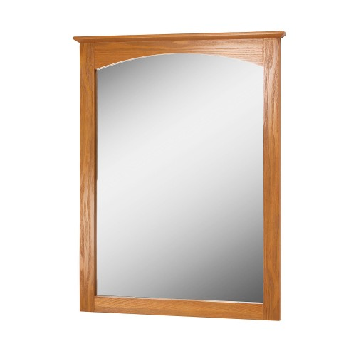 WORTHINGTON 25 INCH OAK BATHROOM MIRROR