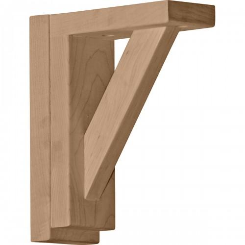 """2 1/2""""W x 6 1/4""""D x 7 1/2""""H Traditional Shelf Bracket, Alder"""