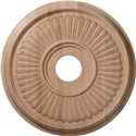"""Carved Berkshire Ceiling Medallion (Fits Canopies up to 5 1/4"""")"""