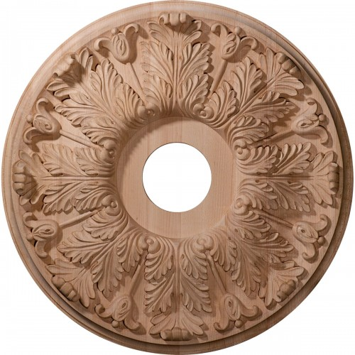 "Carved Florentine Ceiling Medallion (Fits Canopies up to 5 3/8"")"