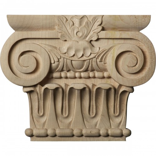 "Small Bradford Roman Ionic Capital (Fits Pilasters up to 3 7/8""W x 1""D)"
