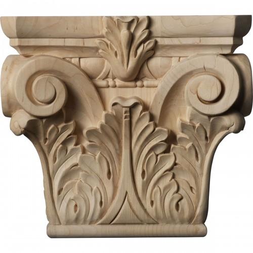 "Medium Floral Roman Corinthian Capital (Fits Pilasters up to 5 5/8""W x 1 3/8""D)"