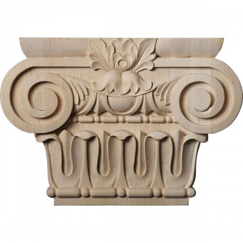 """Medium Bradford Roman Ionic Capital (Fits Pilasters up to 5 5/8""""W x 1 3/8""""D)"""