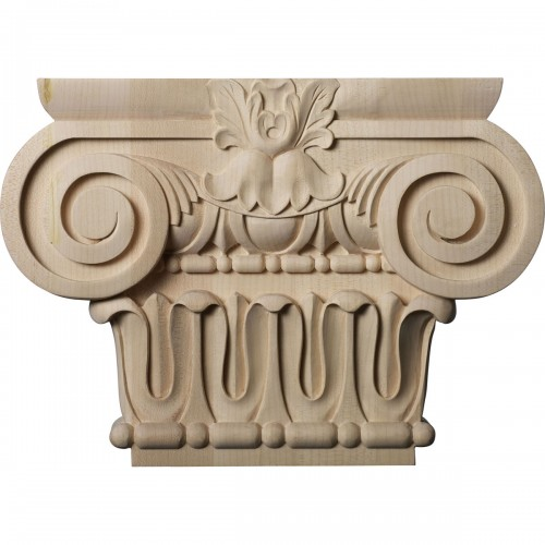 """Large Bradford Roman Ionic Capital (Fits Pilasters up to 6 1/4""""W x 2""""D)"""