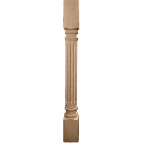"""Richmond Fluted Cabinet Column (Top Block: 6"""", Bottom Block: 7"""")"""
