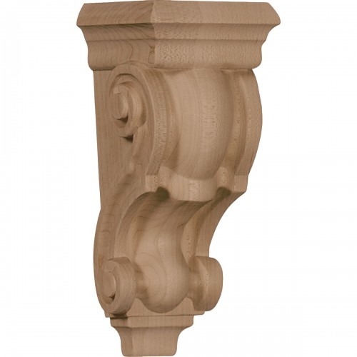 """3 1/2""""W x 3""""D x 7""""H Small Traditional Corbel"""