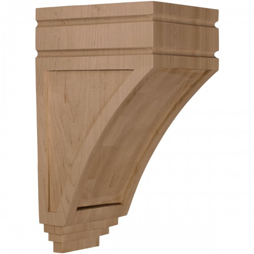 "5""W x 6""D x 10 1/2""H Medium San Juan Wood Corbel"