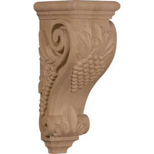 "5""W x 7""D x 14""H Large Grape Corbel"
