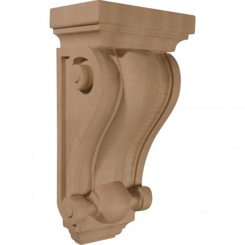 "6 1/4""W x 4""D x 12""H Cole Pilaster Wood Corbel"