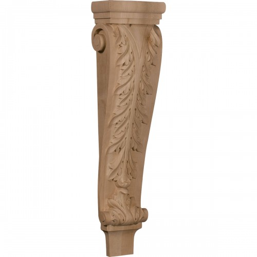 """6 3/4""""W x 4 1/4""""D x 27 1/2""""H Extra Large Acanthus Pilaster Corbel"""