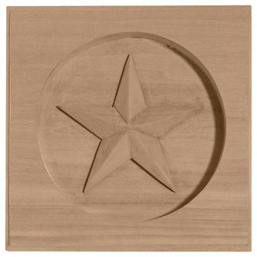 "3 1/2""W x 3 1/2""H x 5/8""P Austin Star Rosette"