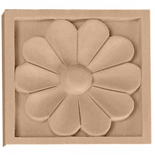 """3""""W x 3""""H x 5/8""""D Small Medway Rosette"""