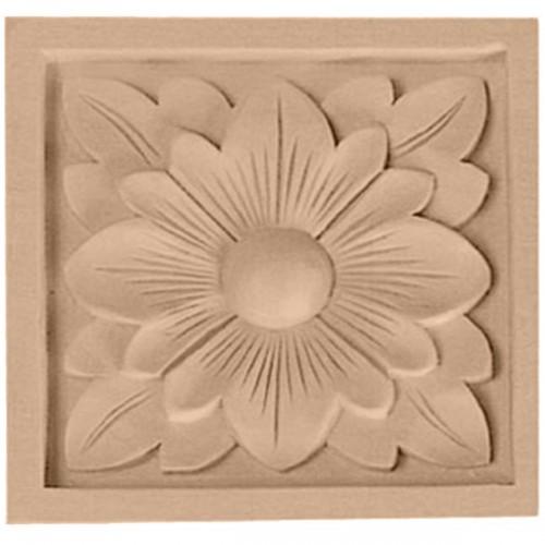 """3""""W x 3""""H x 5/8""""D Small Dogwood Flower Rosette"""