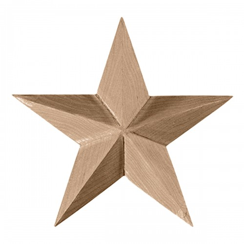 "6 1/2""W x 6 1/2""H x 1""P Galveston Star Rosette"