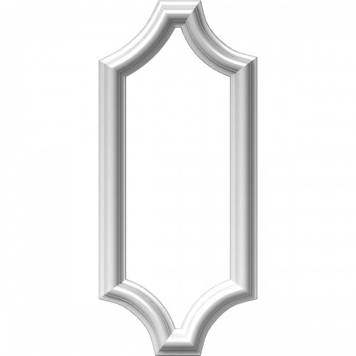 """8""""W x 20""""H x 1/2""""P Ashford Molded Scalloped Picture Frame Panel"""