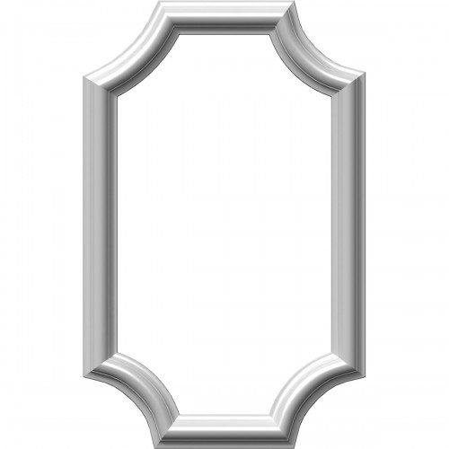 "12""W x 20""H x 1/2""P Ashford Molded Scalloped Picture Frame Panel"