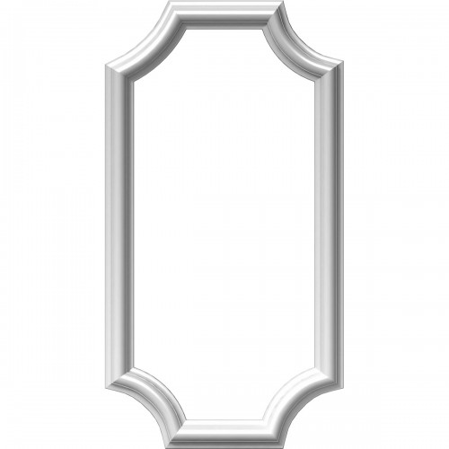 """12""""W x 24""""H x 1/2""""P Ashford Molded Scalloped Picture Frame Panel"""