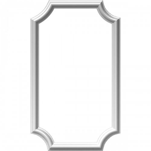 """16""""W x 28""""H x 1/2""""P Ashford Molded Scalloped Picture Frame Panel"""