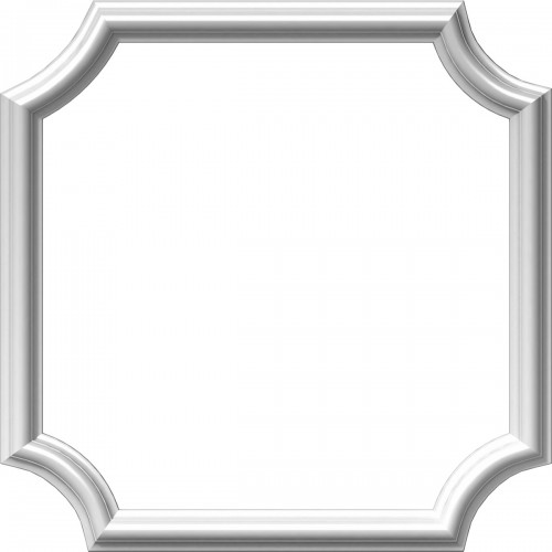 "20""W x 20""H x 1/2""P Ashford Molded Scalloped Picture Frame Panel"